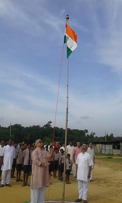 RSS Sarakaryavah Suresh Bhaiyyaji Joshi hoisted National flag at Agartala