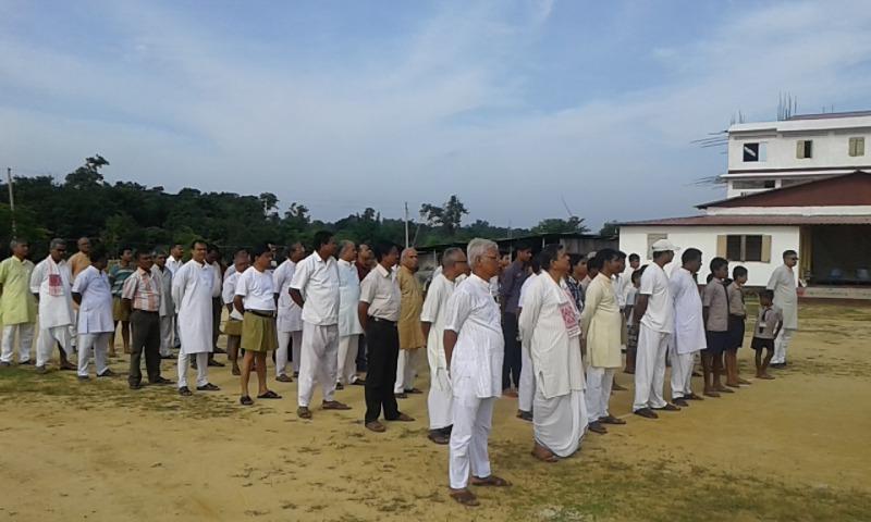 RSS Sah-sarakaryavah Dattatreya Hosabale, Dr Krishna Gopal attended Independence Day Ceremony at Agartala.