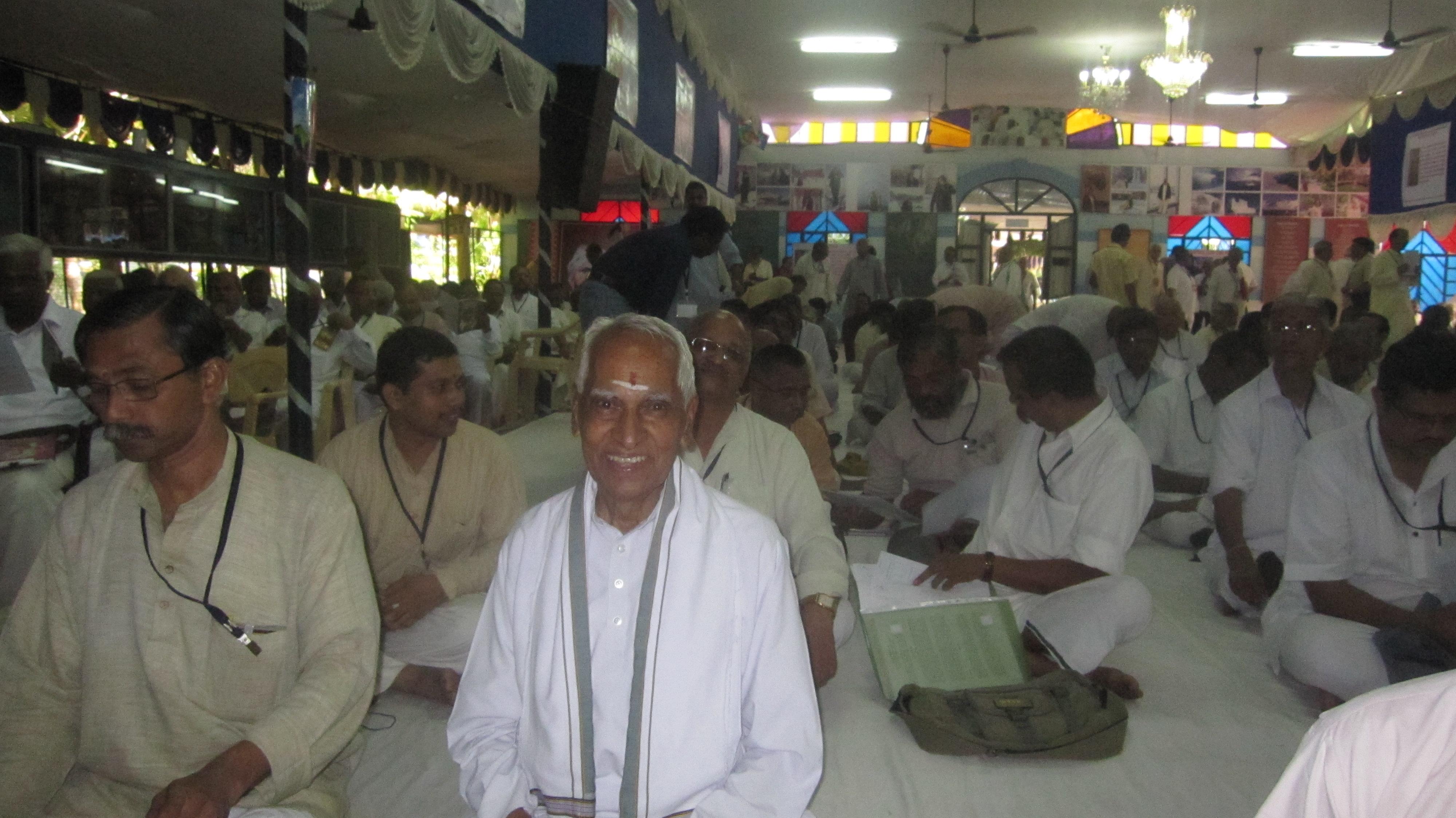 At-an-Akhil-Bharatiya-Baitak, Always-sits-on-floor-NOT-ON-CHAIR