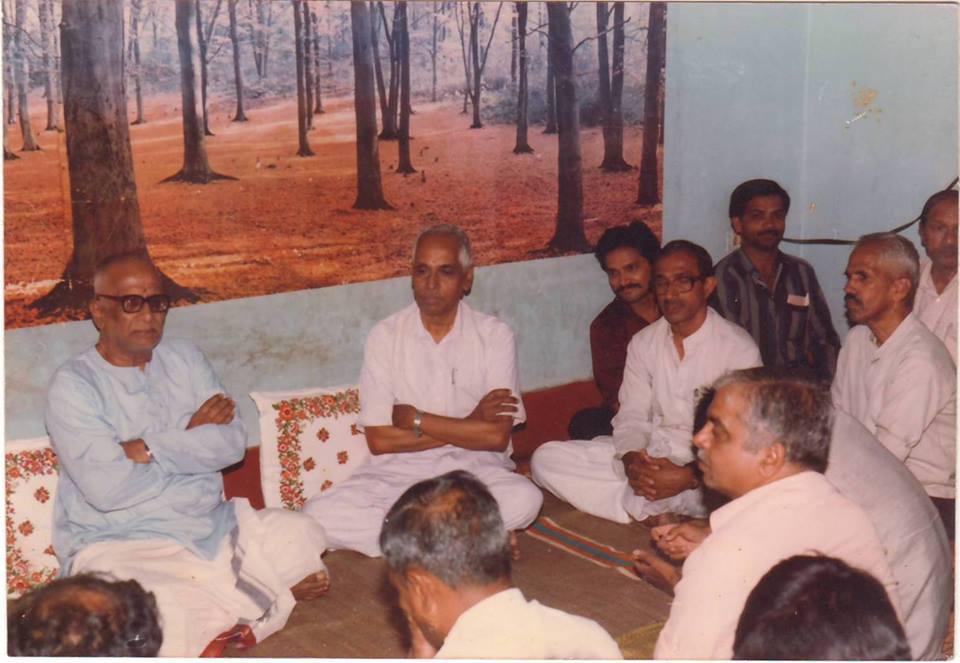 Na Krishnappa Chandrashekar Bhandari Nagabhushan at an event