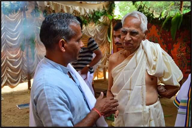 J Nandakumar with Na Krishnappa ji