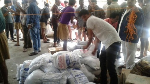 Photos: Seva Bharati Volunteers Planning & Distributing Relief Materials in Chennai