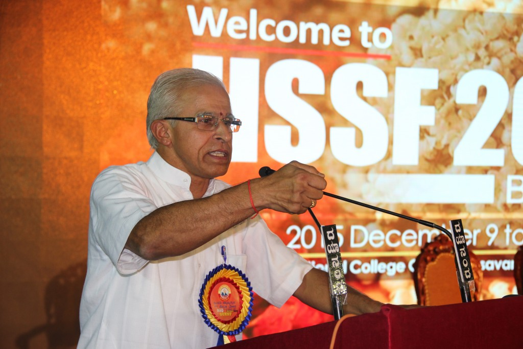 Dinesh Kamat addressed the valedictory