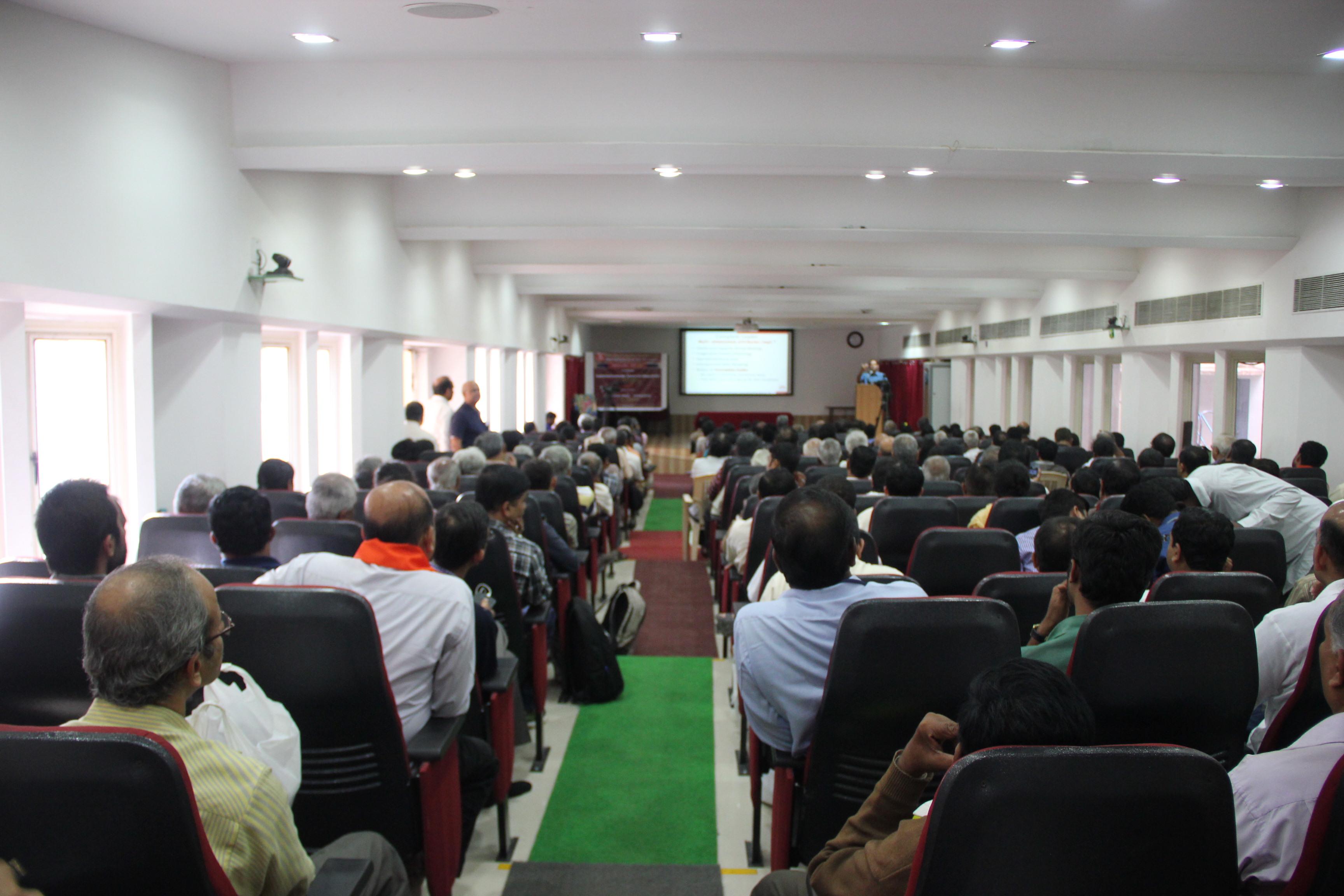 Prof Mahadevan speaking
