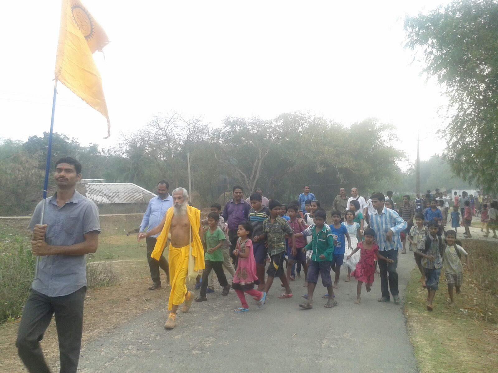 18,000Km by walk, Bharat Parikrama Yatra inspires Villages of Odisha, completes Day-1308
