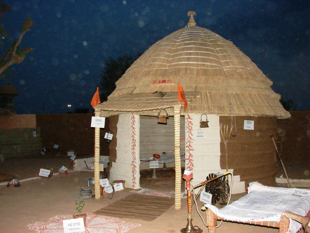 A traditional Hut made in indigenous style of Rajasthan, at ABPS meet venue