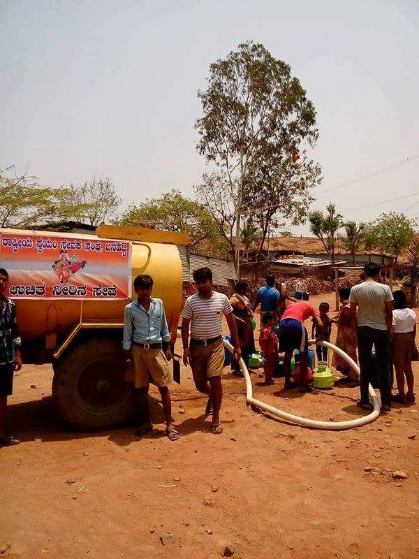 Free Drinking Water Distribution at Banahatti, Bagalakot District