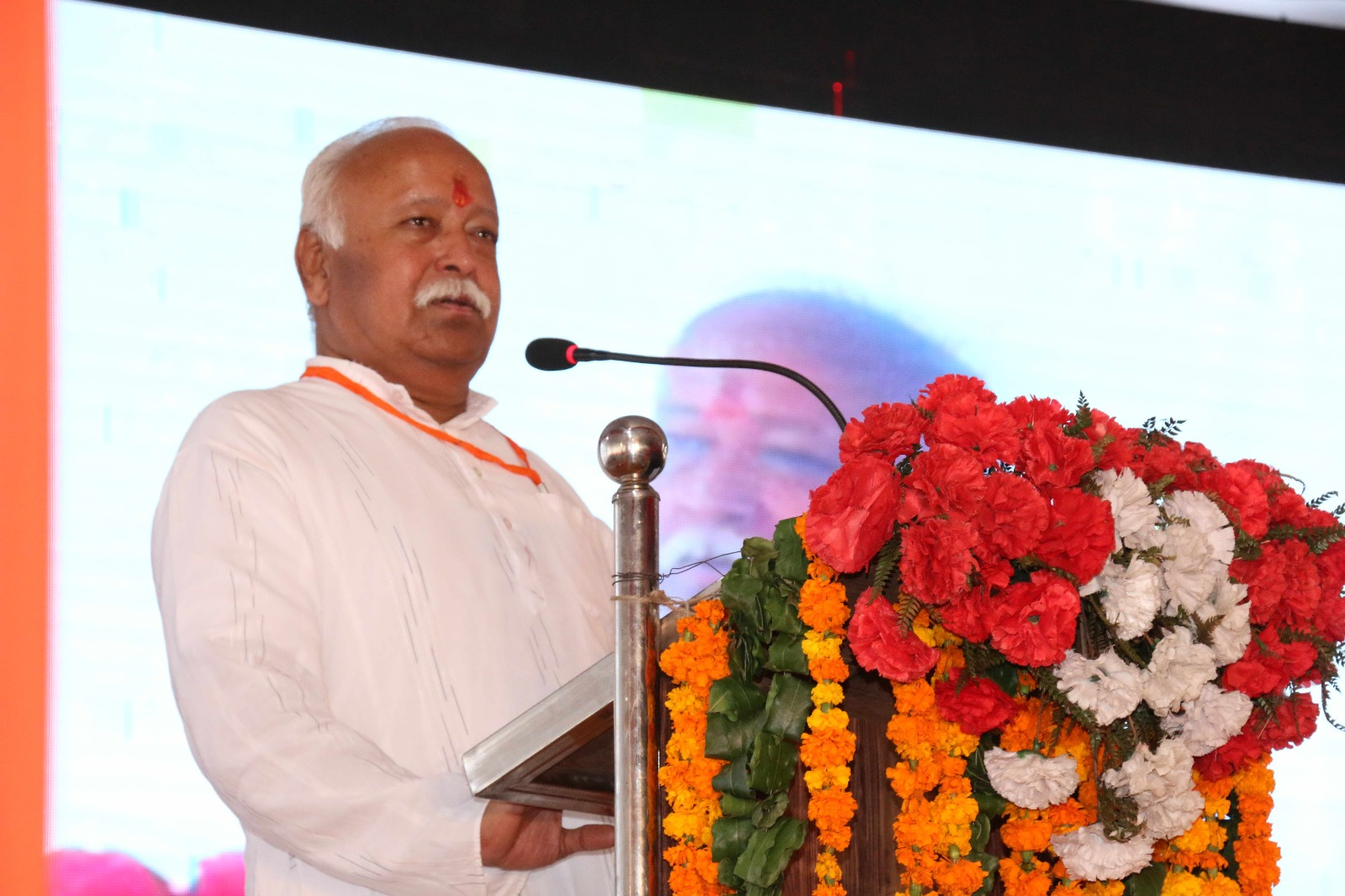 Mohan Bhagwat at Agra (1)