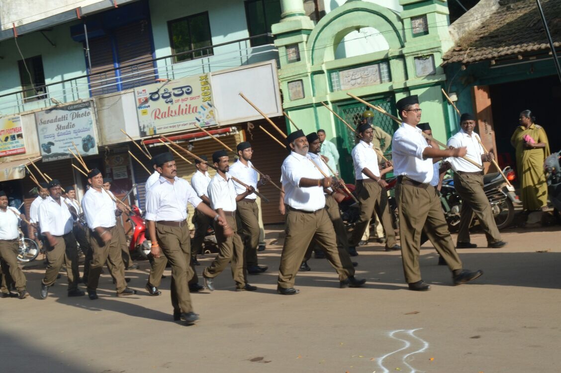 Spectacular RSS Path Sanchalan (RouteMarch) held at Dharawada in Karnataka.
