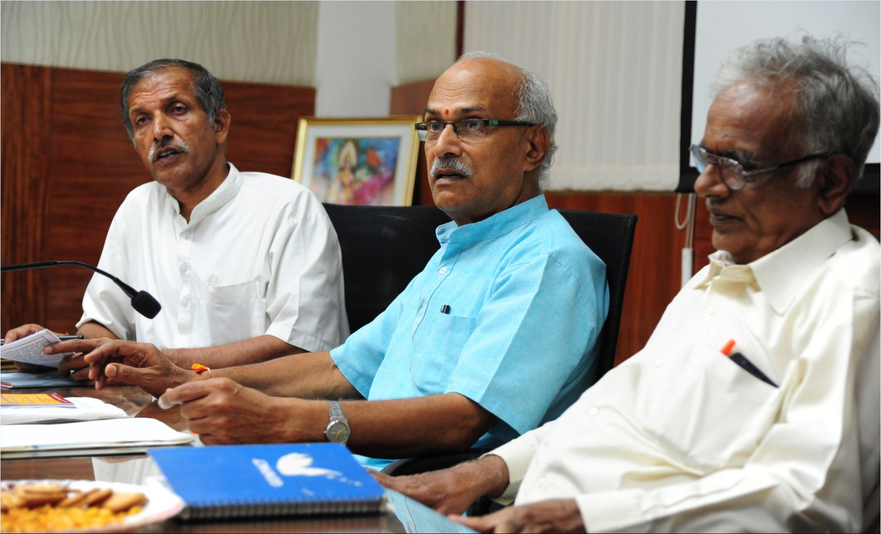 Vanavasi Kalyana Karnataka held Press Conference recently related to their activities in next couple of months.
