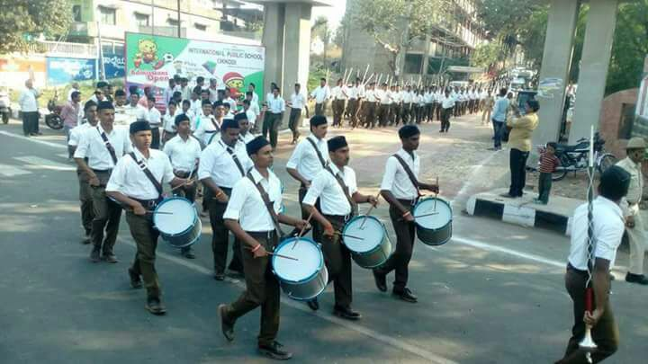 Marking 80 years of RSS entry in Chikodi, Karnataka