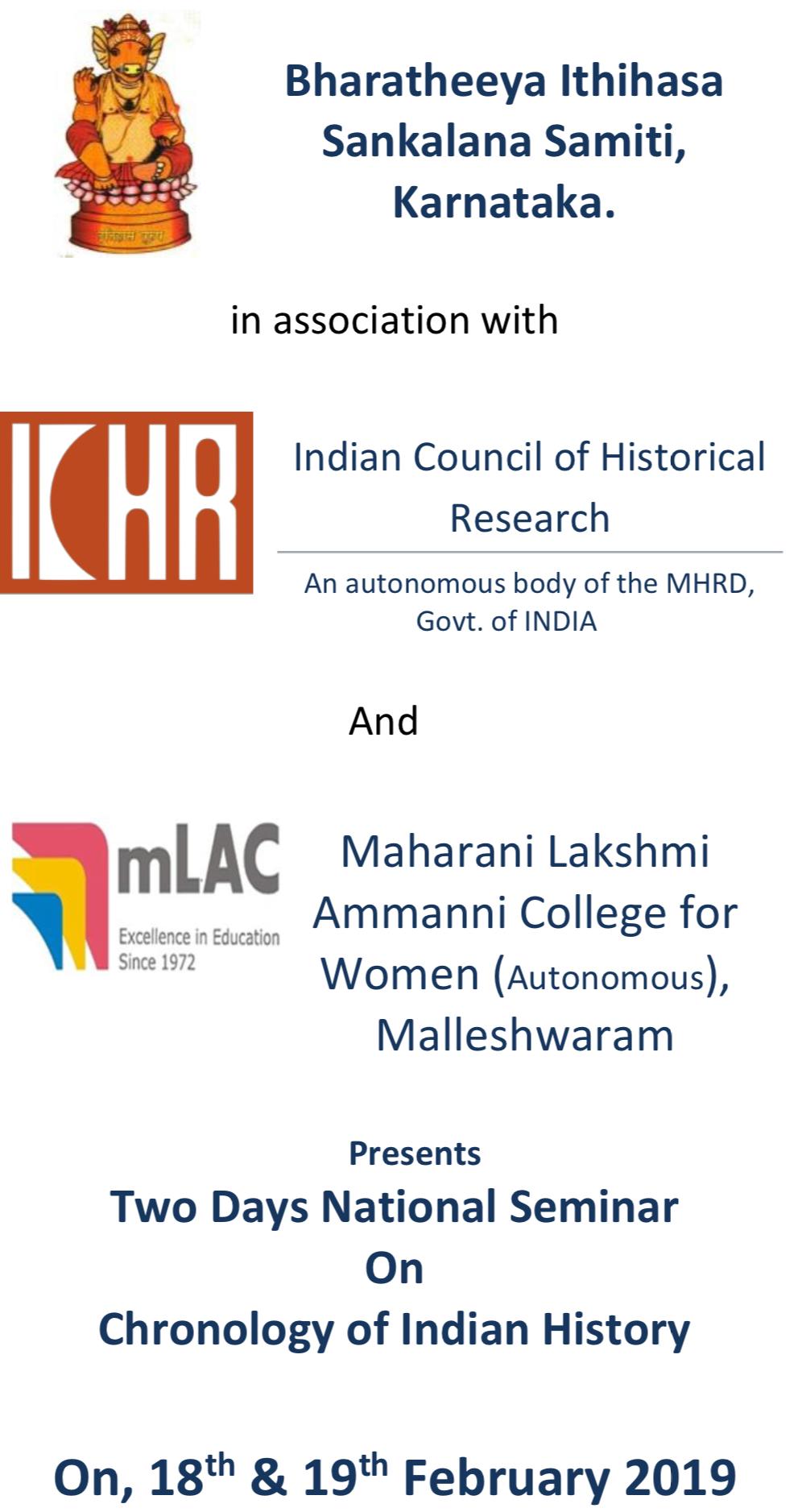 2Day national seminar on chronology of Indian History at Bengaluru