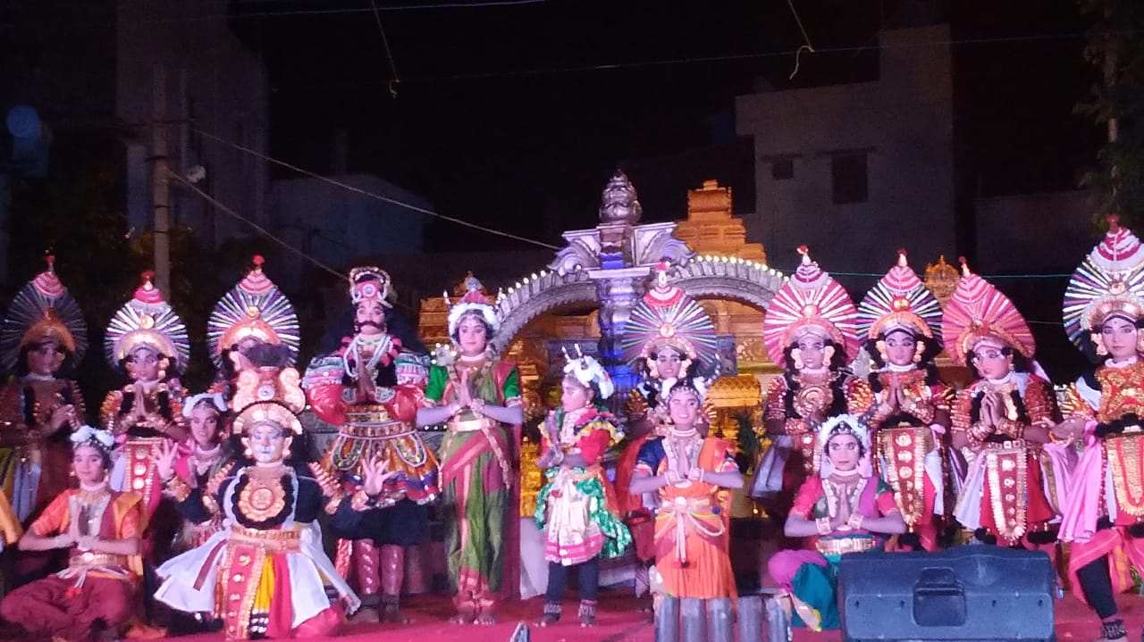 Fabulous Yakshagana performance by children of Nele Nivedita