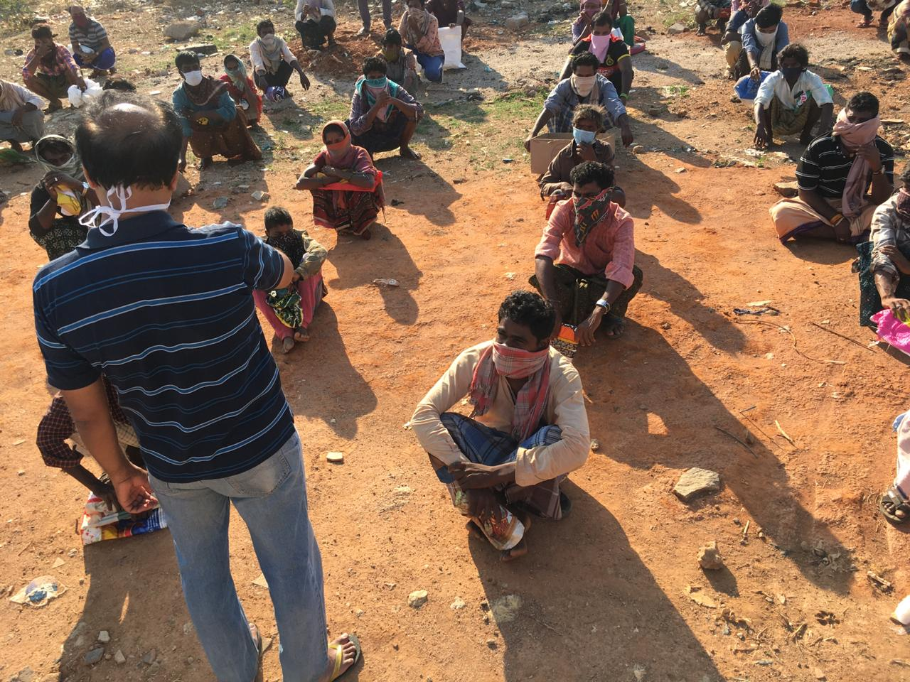 During Lockdown RSS reaches out to nomadic 'kole basavas' who earn food through begging
