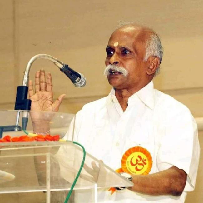 Veteran RSS Pracharak and Editor of 'Vijayabharatam' Sri M Veerabahu passes away.