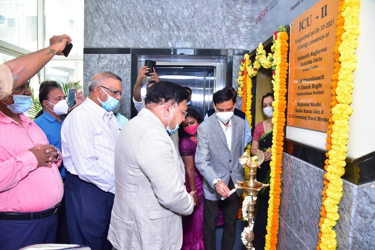 Rashtrotthana Parishat in partnership with Unisys India sets up  ICU Ward at Maharaja Agrasen Hospital