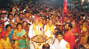 Dr Pravin Togadia received an unprecedented welcome at Ajmer