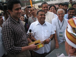 NIL KUMBLE HAVING A HAPPY  TIME AT WORLD SAMSKRIT BOOKFAIR