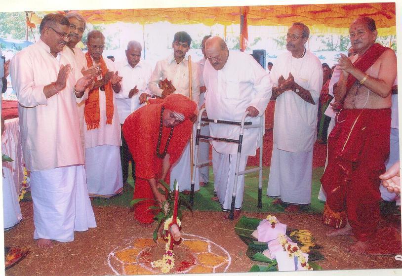 Bhoomi Poojan at Hindu Shakti Sangam 2012 at Hubli