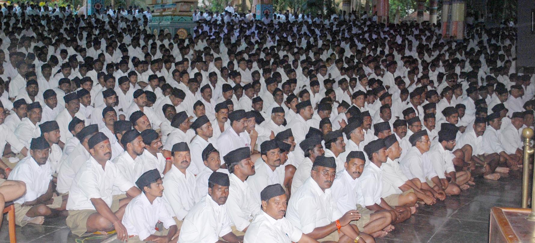 RSS Sarasanghachalak Mohan ji Bhagwat addresses a BOUDHIK VARG at Mysore, Karnataka