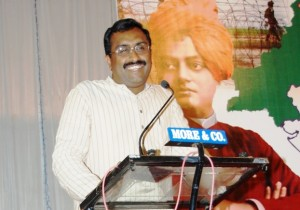 RSS Akhil Bharatiya Sah Sampark pramukh Ram Madhav speaks at Belgaum, March-02-2013