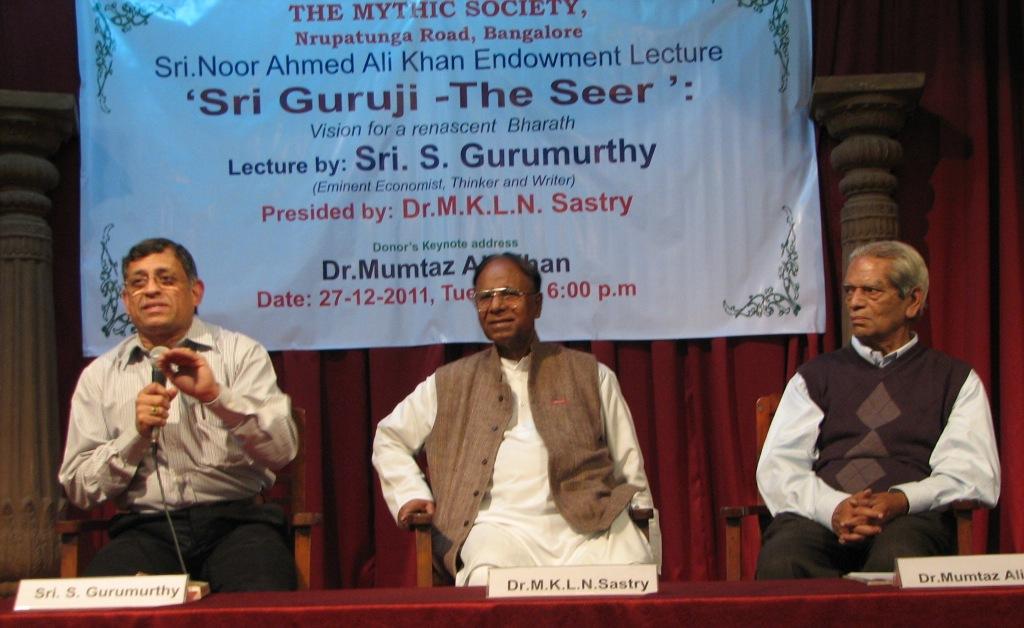 Guruji's thoughts will bring harmony in India; says thinker S Gurumurthy in Bangalore