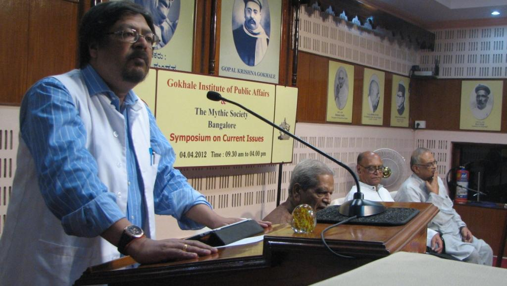 Citizen's Despondency destroys the character of the nation: Dr Chandan Mitra in Bangalore
