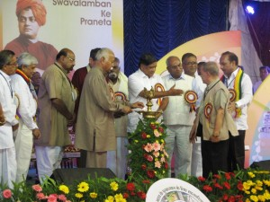 RSS Chief Mohan Bhagwat inaugurates 4th National Conference of Sahakar Bharati in Bangalore .