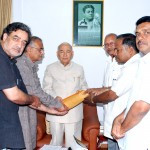 Memorandum submitted to Governor of Karnataka