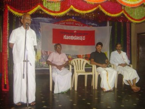 Sri Dinesh, RSS Kasaragod Sanghachalak speaks after inaugurating GOKULOTSAVAM