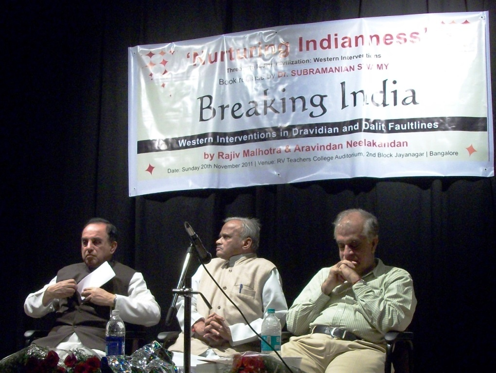 'Breaking India', a major book by Rajiv Malhotra released at Bangalore
