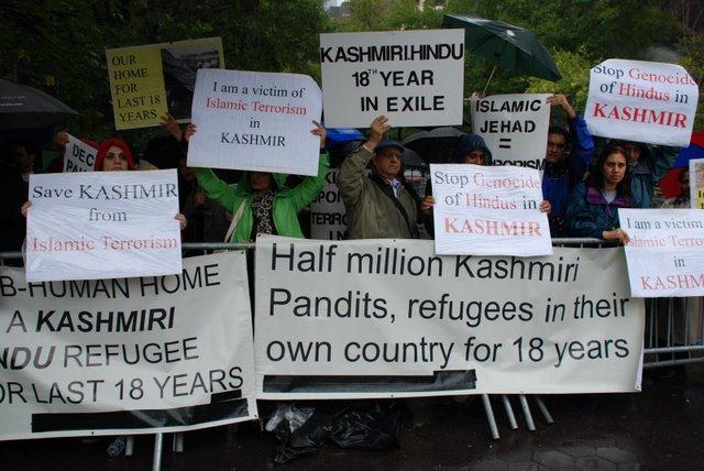 PoK refugees stage demonstration at Jammu