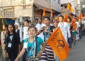 North East students at ABVP national conference at Bangalore