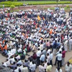 RSS protest against anti-Hindu propaganda of UPA govt 10.11.2010