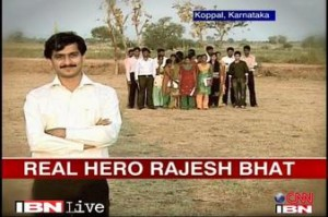 Real Hero Rajesh educates and trains villagers