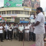 shimoga: Vinay Bidire speaks at Protest gathering